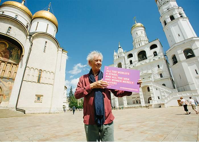 Sir Ian McKellen at the Midsummer Nights Festival in Moscow.Image credit: Valeriy Belboeev